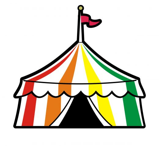 520x476 Circus Ticket Clipart