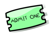 228x158 Ticket Stub Clip Art