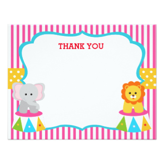 324x324 Carnival Thank You Cards Amp Invitations Zazzle.co.uk