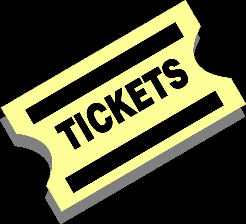 958x871 concert ticket clipart