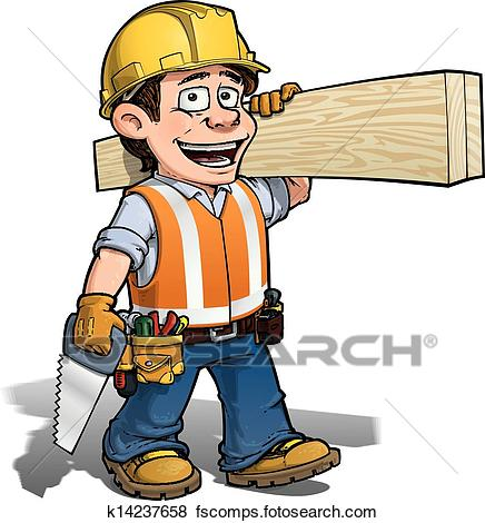 436x470 Clip Art Of Constraction Worker