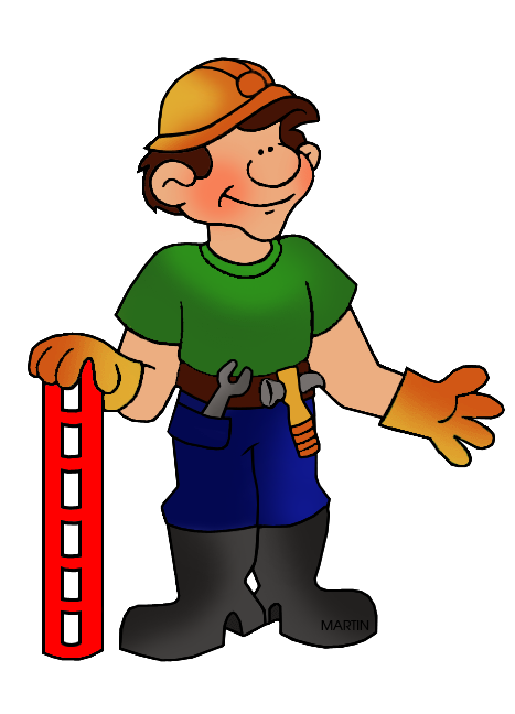 467x648 Occupations Clip Art By Phillip Martin, Construction
