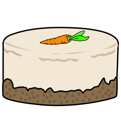 500x500 Carrot Clipart Carrot Cake