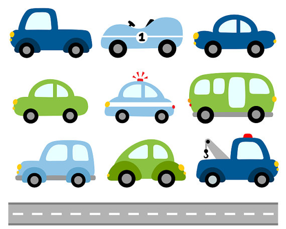 570x456 Cute Cars Digital Clip Art Transportation Clipart By Yarkodesign