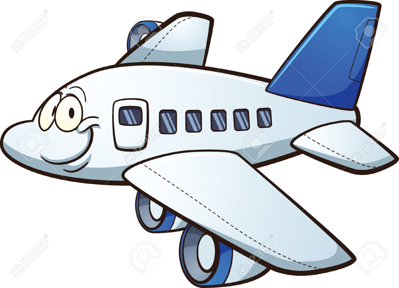 1300x940 Cartoon Airplane Clipart
