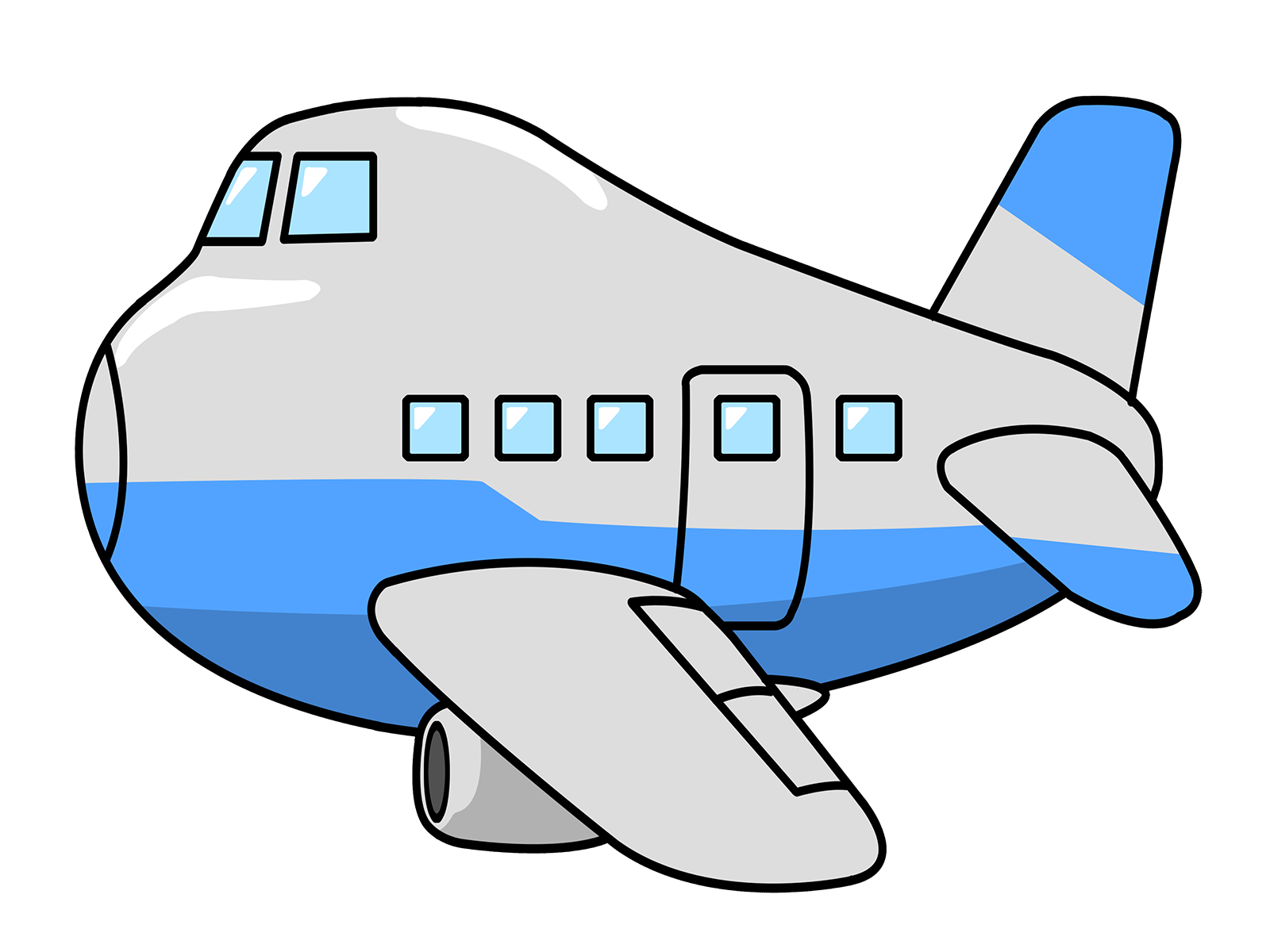 1600x1200 Cartoon Airplane Clipart