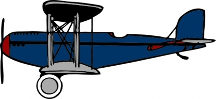 425x196 Red Blue Cartoon Plane Wings Clipart Panda