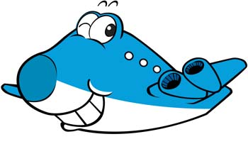350x203 Airplane Clipart Cartoon