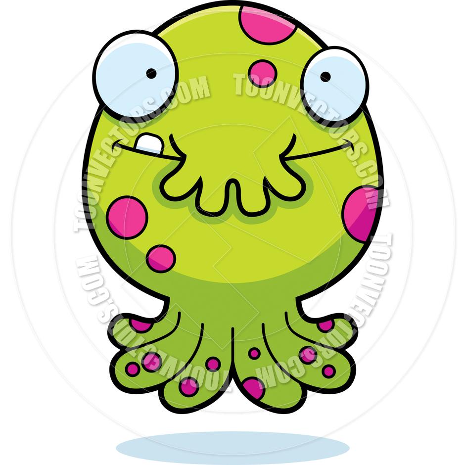 940x940 Cartoon Alien Octopus Monster Happy By Cory Thoman Toon Vectors