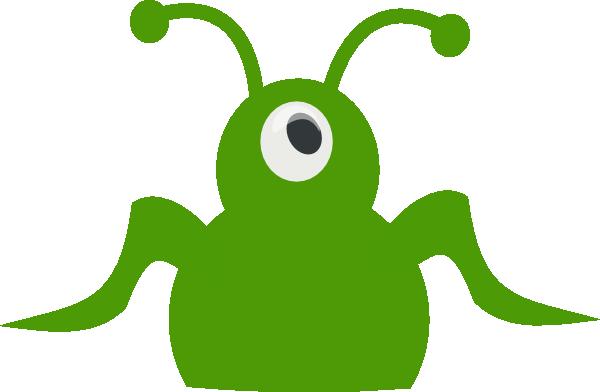 600x392 Green Alien Clip Art