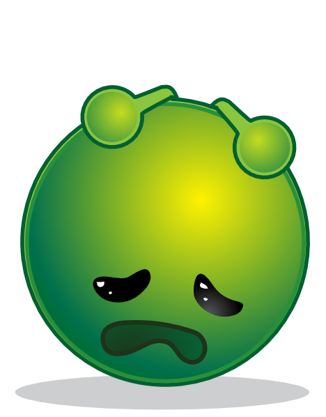 468x598 Smiley Green Alien Depresive Clip Art