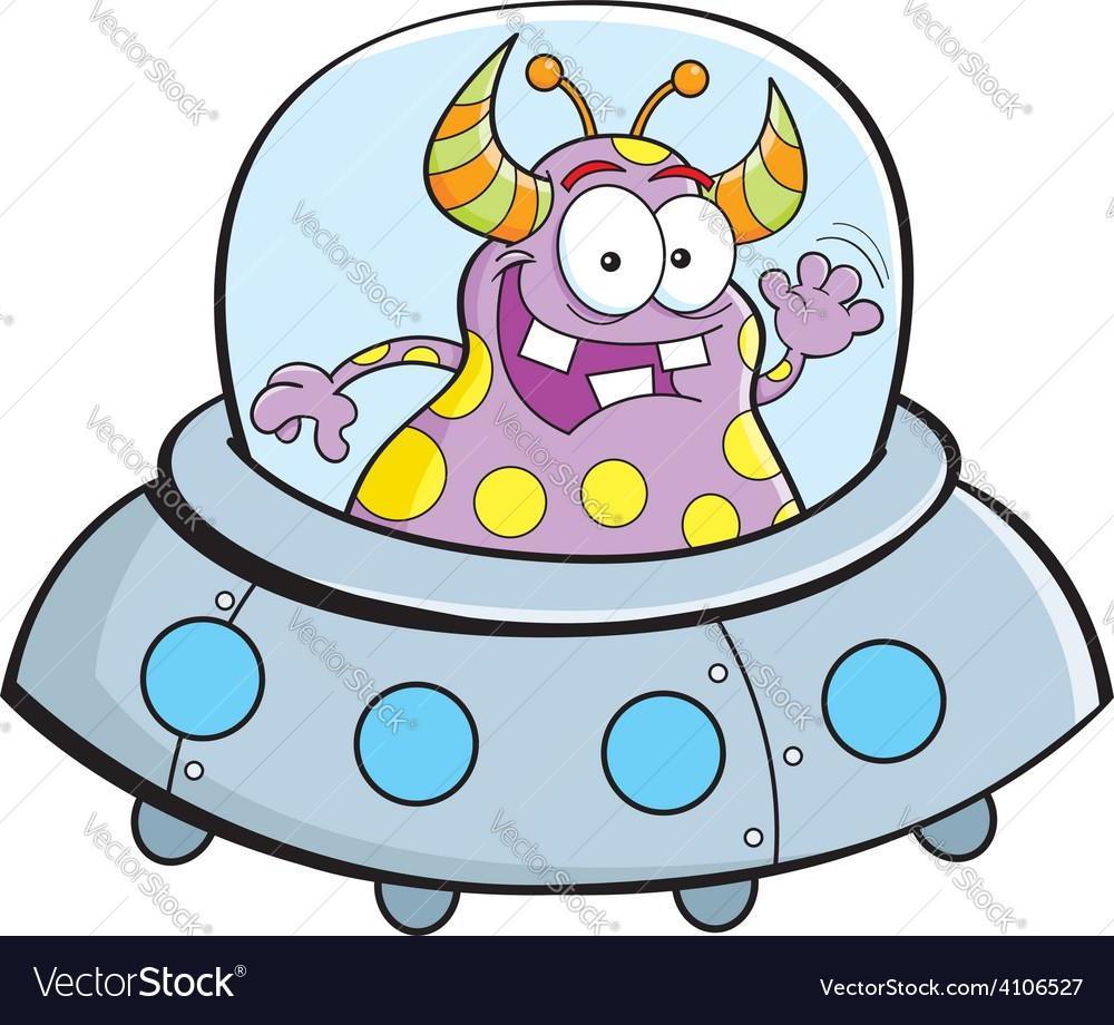 1000x920 Top 10 Best Cartoon Alien In Spaceship Vector Images Design