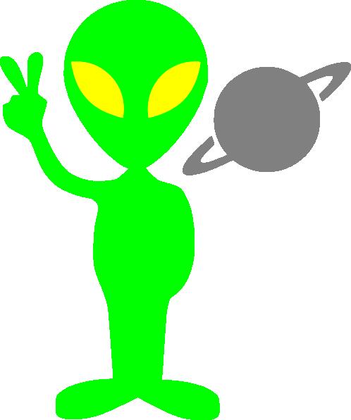 498x596 Alien Clip Art Free Vector 4vector