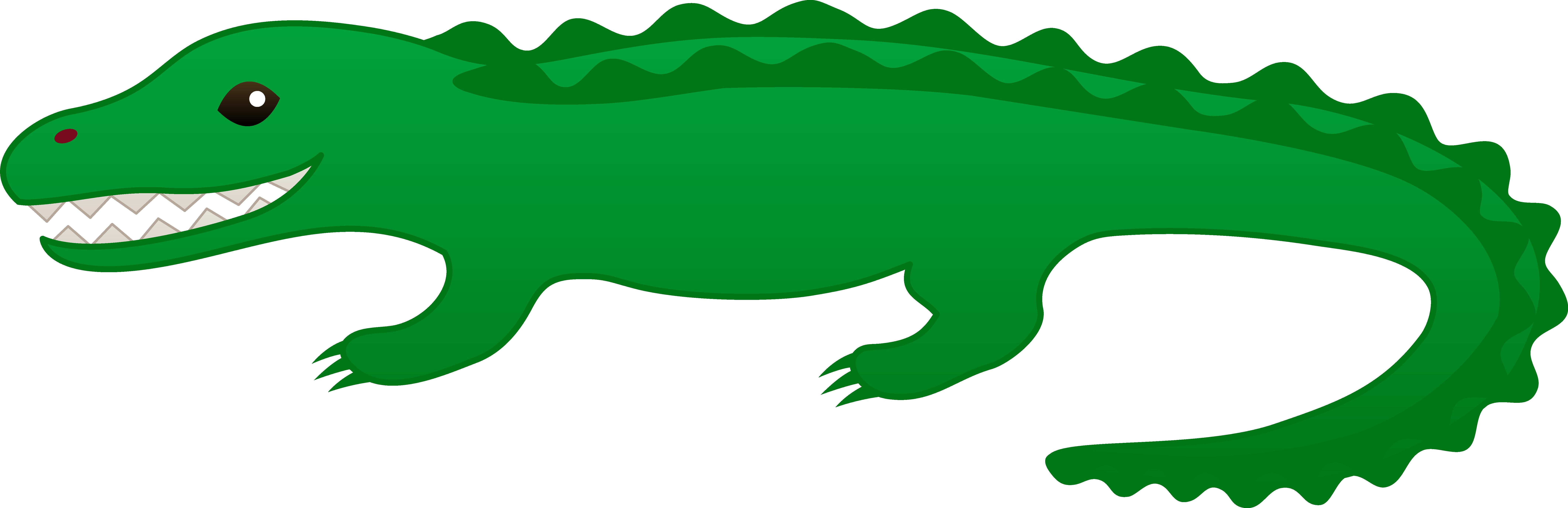 8491x2753 Animated Alligator Clip Art