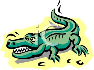 300x225 Art Image A Cartoon Alligator