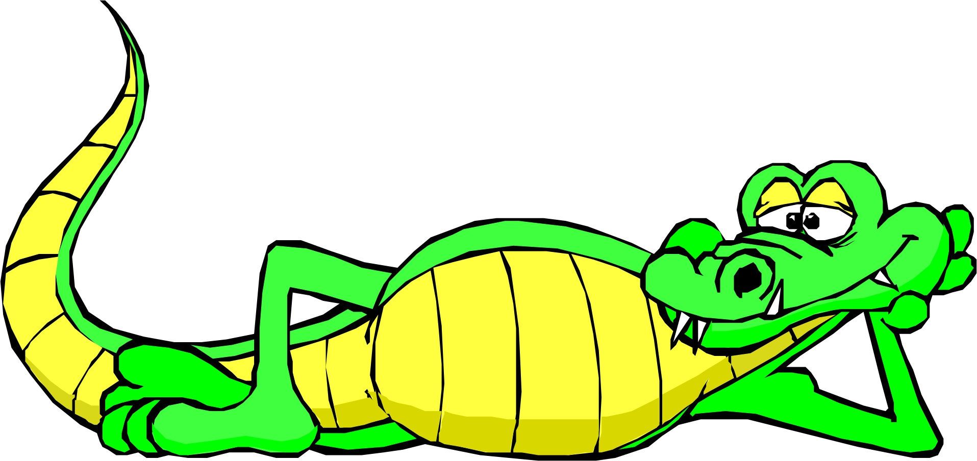 1915x904 Free Clip Art Alligator Clipart Image 8