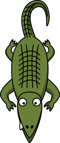252x598 Alligator Clip Art