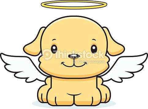 483x357 Angel Clipart Puppy