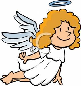 282x300 Cartoon Angels Clipart