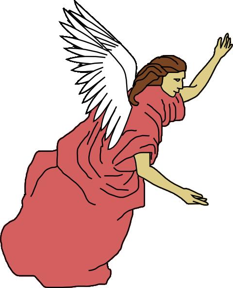 480x592 Flying Angel Clip Art