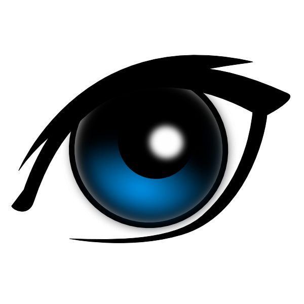 600x600 Cartoon Eye Clip Art