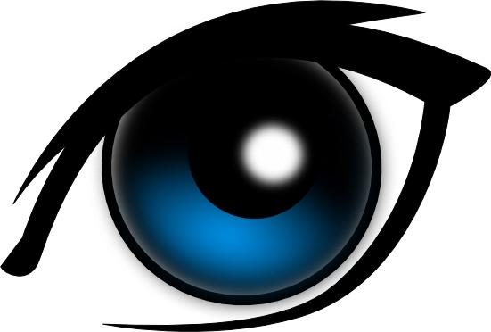 551x372 Cartoon Eye Clip Art Free Vector In Open Office Drawing Svg ( Svg