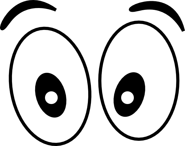 600x473 Cartoon Eyes(Straight On) Black Clip Art
