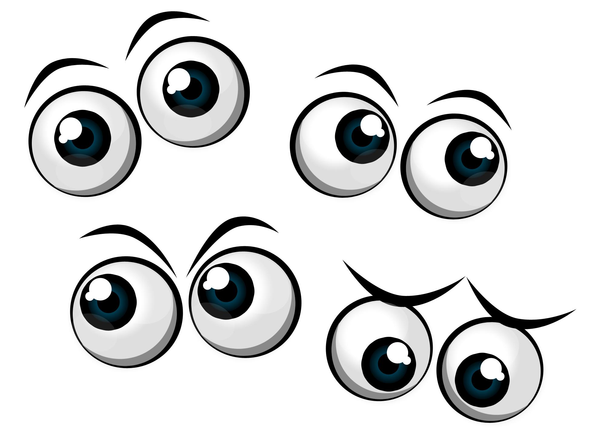 2000x1469 Cartoon Eyes Clipart