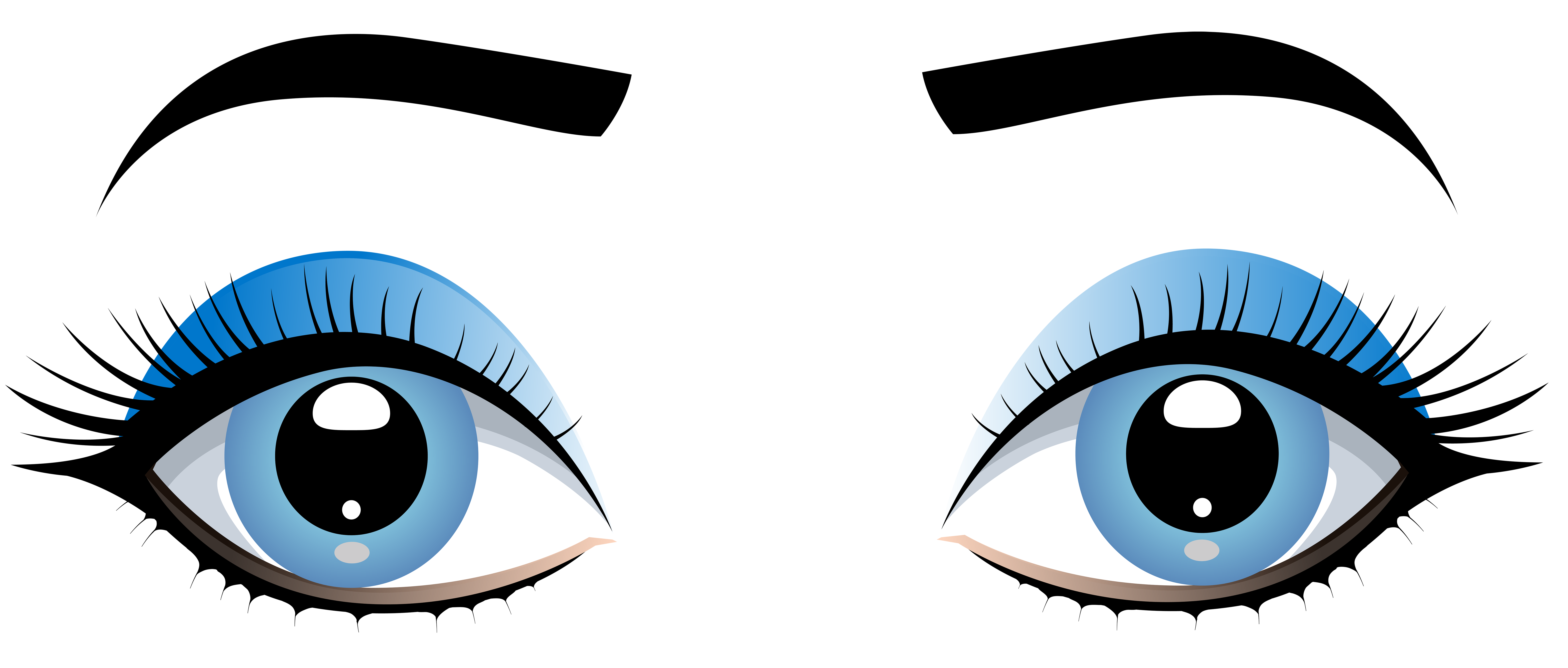 8000x3410 Blue Eyes Clipart Angry Eyebrow