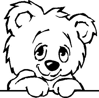 Cartoon Animal Clipart Black And White