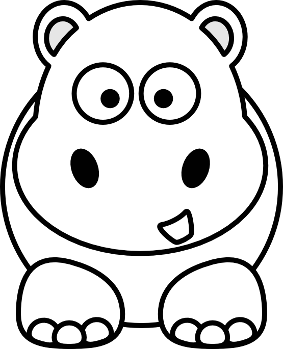 555x685 Animal Clipart Black And White