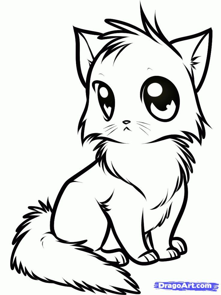 736x984 Best 25+ Cute Cat Drawing Ideas Kawaii Stickers