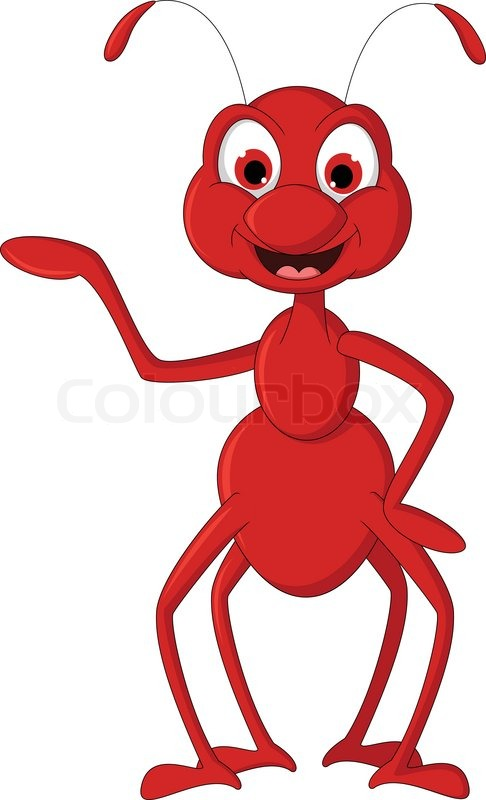 486x800 Red Ant Cartoon Presenting Stock Vector Colourbox