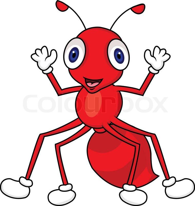 760x800 Ant Cartoon Stock Vector Colourbox