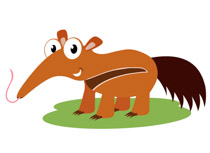 210x153 Anteater Clipart Collection
