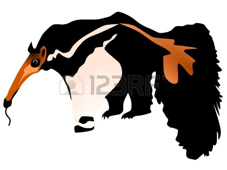 450x338 Illustration Of A Comical Anteater Royalty Free Cliparts, Vectors