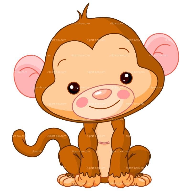 800x800 Baby Monkey Clip Art Clipart Baby Monkey Royalty Free Vector