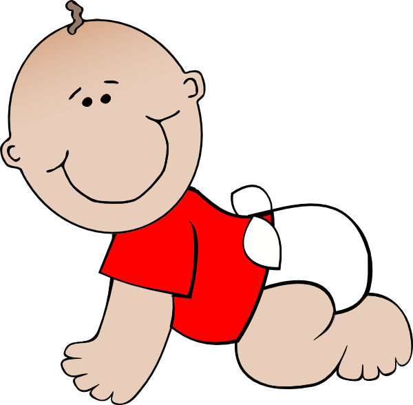 600x588 Crawling Baby Red Clip Art