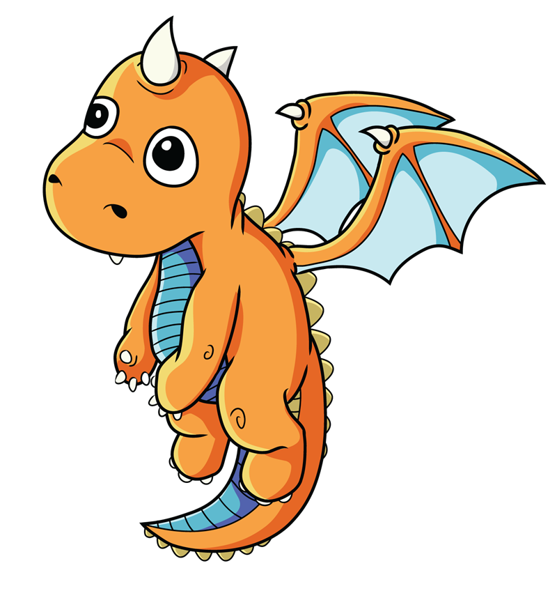 800x848 Free Cartoon Baby Dragon Clip Art