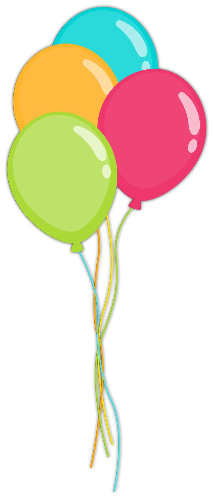 736x1726 Cartoon Balloons Clip Art 101 Clip Art