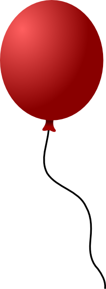 216x588 Cartoon Balloon Clipart