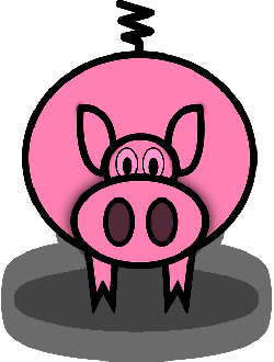 250x330 SIMPLE CARTOON BARN FARM PIG ANIMAL