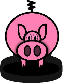 250x330 SIMPLE CARTOON BARN FARM PIG ANIMAL