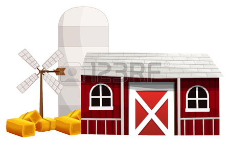 450x282 806 Barn And Silo Stock Vector Illustration And Royalty Free Barn