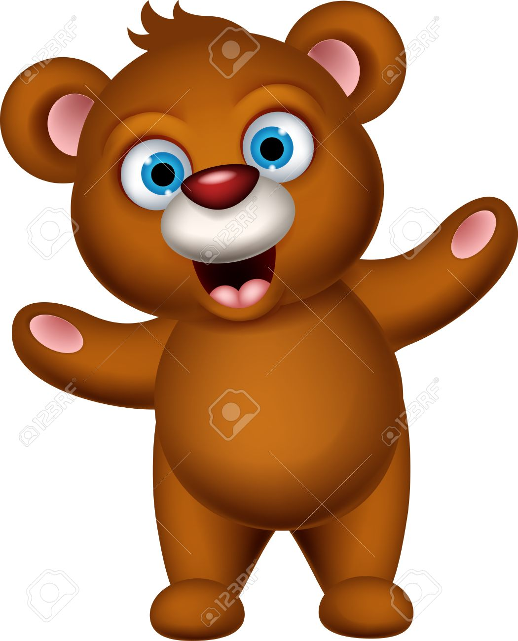 1050x1300 Cute Brown Bear Cartoon Posing Royalty Free Cliparts, Vectors,