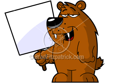 432x324 Cartoon Bear Clipart Character Royalty Free Bear Picture Holding