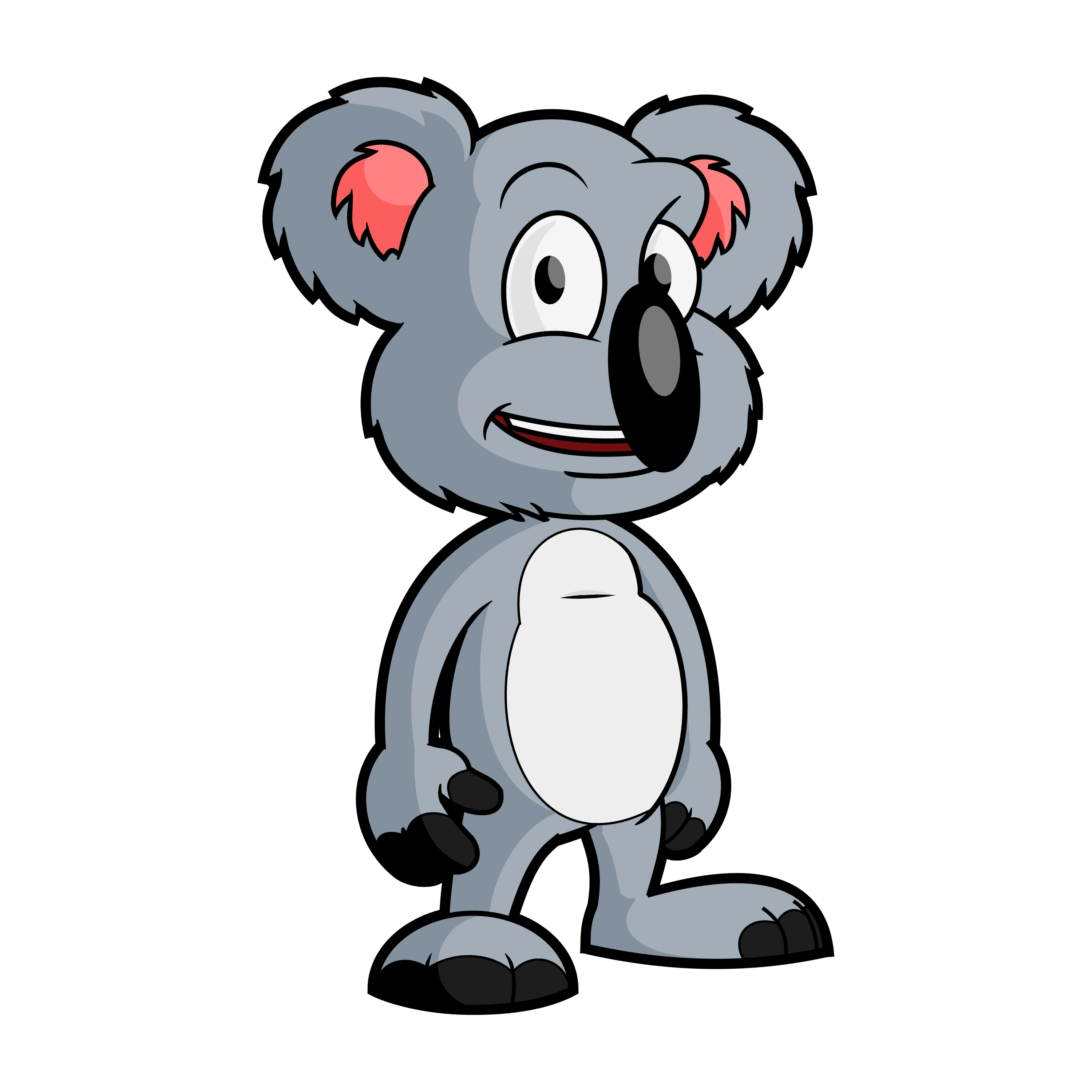 3000x3000 Free Cartoon Koala Bear Clip Art Vector