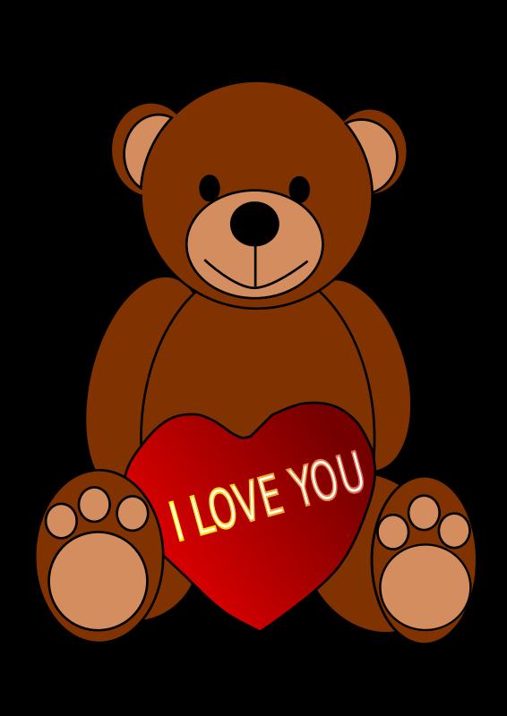 566x800 Teddy Bear Clipart Heart Clip Art