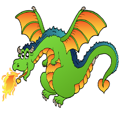 400x400 Cartoon Dragon Clipart