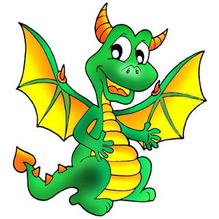320x320 Cartoon Dragon Clipart